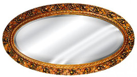 "Classic Elements, 48"" Oval Shape Beveled Glass Reproduction Mirror, Custom Finish II, 6089"