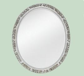 "Classic Elements, 46"" Oval Shape Beveled Glass Reproduction Mirror, Custom Finish, 6088"