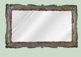 "Classic Elements, 33"" Rectangular Shape Beveled Glass Reproduction Mirror, Custom Finish"