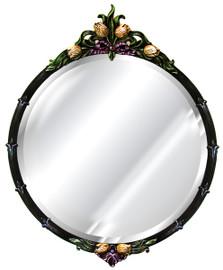 "Classic Elements, 34.5"" Round Shape Beveled Glass Reproduction Mirror, Custom Finish, 6081"