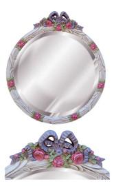 "Classic Elements, 22"" Round Shape Beveled Glass Reproduction Mirror, Custom Finish, 6082"