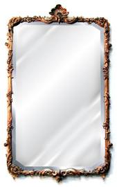 "Classic Elements, 43"" Rectangular Shape Beveled Glass Reproduction Mirror, Custom Finish, 6080"