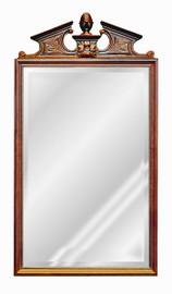 "Classic Elements, 44"" Rectangular Shape Beveled Glass Reproduction Mirror, Custom Finish, 6076"