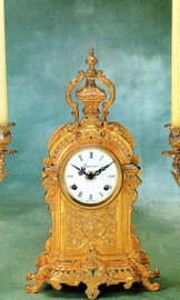 Fancy d'Oro Ormolu - Desk, Mantel, Table Clock - Choose Your Finish - Handmade Reproduction of a 17th, 18th Century Dore Bronze Antique, 6073