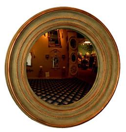 "Classic Elements, 25.25"" Round Shape Convex Glass Reproduction Mirror, Custom Finish, 6072"
