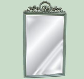 "Classic Elements, 42"" Rectangular Shape Plate Glass Reproduction Mirror, Custom Finish, 6071"