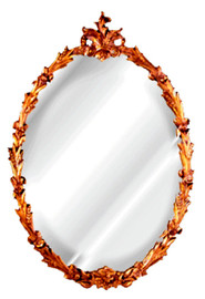 """Classic Elements, 48"""" Oval Shape Plate Glass Reproduction Wheat Mirror, Custom Finish, 6062"""