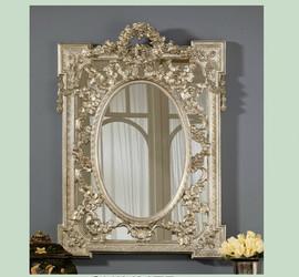 "Classic Elements, 36.5"" Rectangular Shape Plate Glass Reproduction Mirror, Custom Finish, 6064"
