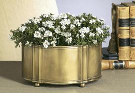 Indian Brass, 13 Inch Oval Centerpiece | Planter, Antique Brass Finish