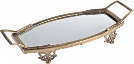 """Luxe Life Solid Brass and Glass, 22""""L x 10.5""""w Display Vanity Tray, 5898"""