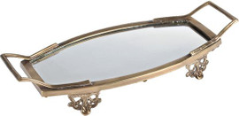 """Luxe Life Solid Brass and Glass, 15""""L x 7""""w Display 