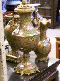 Lyvrich Handmade Luxury Porcelain and Gilded Ormolu - Covered Urn