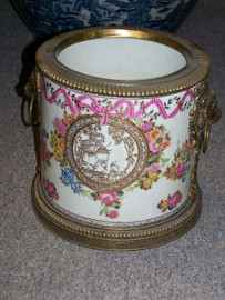 Lyvrich Handmade Luxury Porcelain and Gilded Ormolu - Planter or Ice Bucket