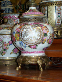 Lyvrich Handmade Luxury Porcelain and Gilded Ormolu - Covered Jar