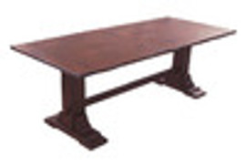 Custom Decorator - Hardwood Hand Carved Reproduction - 90 Inch Trestle Dining Table
