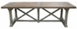 Custom Decorator - Hardwood Hand Carved Reproduction - 102 Inch Trestle Dining Table