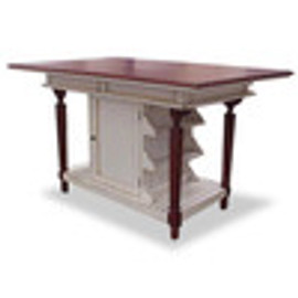 Custom Decorator - Hardwood Hand Carved - Cottage 61 Inch Kitchen Island