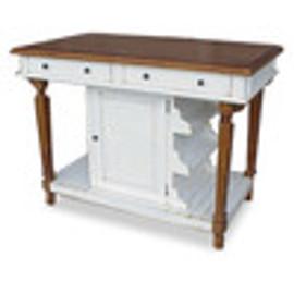 Custom Decorator - Hardwood Hand Carved - Cottage 51 Inch Kitchen Island