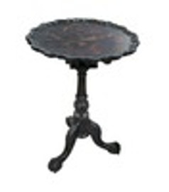 Custom Decorator - Hardwood Hand Carved Reproduction - Classic End | Side | or Lamp 20 Inch Round Pedestal Table