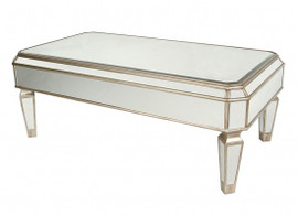 Silver Mirror - 18t X 48w X 26d Cocktail, Coffee Table - Louis XVI Neo Classical Style