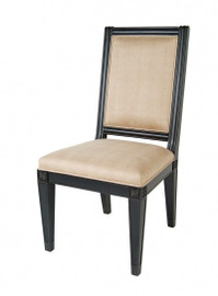 Ebony Black Mirror - Side Chair - Louis XVI Neo Classical Style