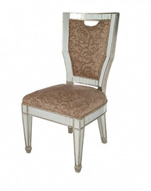 Silver Mirror - 20.25w x 22d x 41t Side Chair - Modern Contemporary Art Deco Style