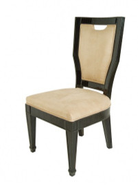 Ebony Black Mirror - Accent, Dining Side Chair - Modern Contemporary Style