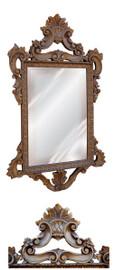 "Classic Elements, 39""t x 23""w Rectangular Shape Bevel Glass Mirror, Custom Finish Ornate Accent Mirror, 5432"