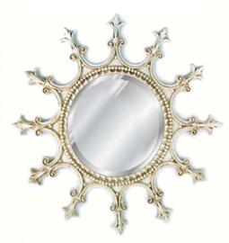 "Classic Elements, Round 23""t x 23""w Bevel Glass Accent Mirror, Custom Finish, 5402"