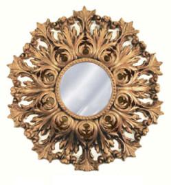 "Classic Elements, Round 25""t x 25""w Beveled Glass Accent Mirror, Custom Finish, 5401"
