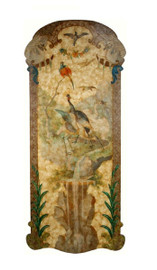 Luxe Life Hand Painted 69 Inch Wall Panel Art, Outdoor Scene