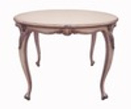 Custom Decorator - Hardwood Hand Carved Reproduction - Classic French - Louis Style Dining | Breakfast 42.5 Inch Round Table
