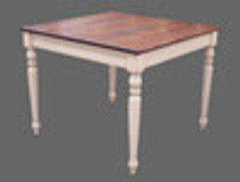 Custom Decorator - Hardwood Hand Carved Reproduction - Classic Dining | Breakfast 39.5 Inch Square Table