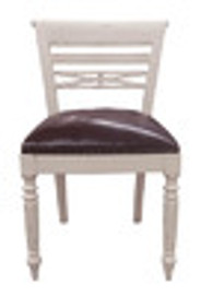 Custom Decorator - Hardwood Hand Carved Reproduction - Classic Dining | Accent 33.5 Inch Side Chair - Carved Back and Upholstered Seat