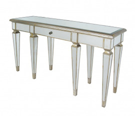 Silver Mirror - 60 Inch Entry Table Console, Buffet Sideboard - Louis XVI Neo Classical Style