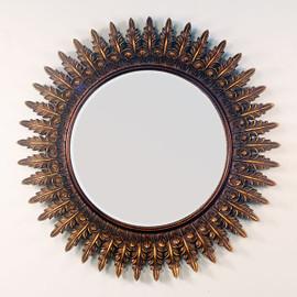 """Golden Acanthus Motif 39"""" Round Wall Mirror, 4940"""