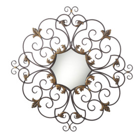 Octagon Mirror Surrounded by Iron Scrollwork, 4934