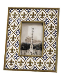 Raised Fleur de Lis 4 X 6 Photo Frame - Set of Two 4740 KB