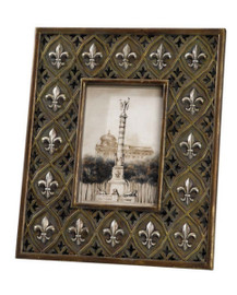 Raised Fleur de Lis 4 X 6 Photo Frame - Set of Two