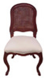 Custom Decorator - Classic 39.4 inch Dining Side Chair - Cane Back | Upholstered Seat