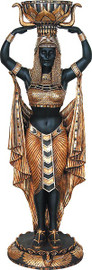 Cast, Cleopatra Design 73 Inch Indoor | Outdoor, Plant Stand | Pedestal Planter