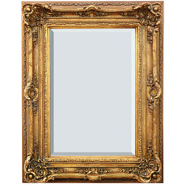"A French Baroque Louis Quatorze Style, 7.5""w Oversized Frame, Large 51""t Drama Bevel Glass Dorado de Oro Gold Mirror, 6966"