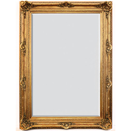 "A Fancy French Baroque Louis Quatorze Style, 7.5""w Oversized Frame Palace 86""t x 62""w Drama Bevel Glass Dorado de Oro Gold Mirror, 6964"