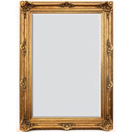 """#A Fancy French Baroque Louis Quatorze Style, 7.5""""w Oversized Frame Palace 86""""t x 62""""w Drama Bevel Glass Dorado de Oro Gold Mirror, 6964"""