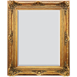 "A French Baroque Louis Quatorze Style, 7.5""w Oversized Frame, Extra Large 64""t Drama Bevel Glass Dorado de Oro Gold Mirror, 6965"