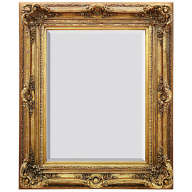 "A French Baroque Louis Quatorze Style, 7.5""w Oversized Frame, Large 55""t Drama Bevel Glass Dorado de Oro Gold Mirror, 6967"