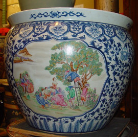 Blue and White French Figural Scene - Luxury Chinese Porcelain, LCP Patterns and Styles are interchangeable!