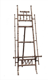 An Iron Bamboo - 16 Inch Table or Counter Top Easel - Antiqued Silver Finish