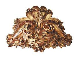 "Classic Elements, Enhardir Prospérer, 25"" Embolden Flourish Bed Canopy Crown | Cornice | Valence with Tie backs, Custom Finish"
