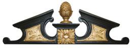 A Classic Elements 23.5w x 7.75t, Artichoke Finial Wall Plaque Over Door Pediment, Custom Finish